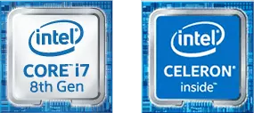 intel core i7 8th Gen intel CELERON inside